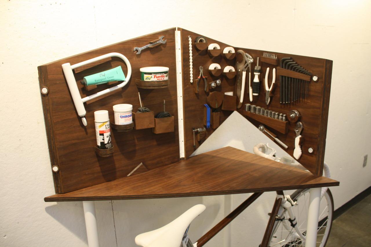 Wood Veneered Bike Tool Cabinet | The 5th Floor