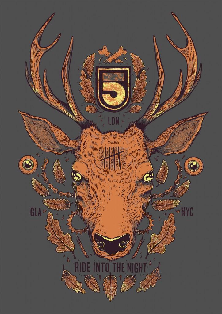 5th Floor Deer print-ready visual